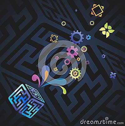 Vector network background
