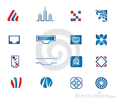 Vector network icons set