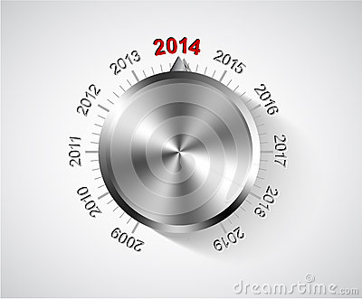 Vector 2014 New Year card