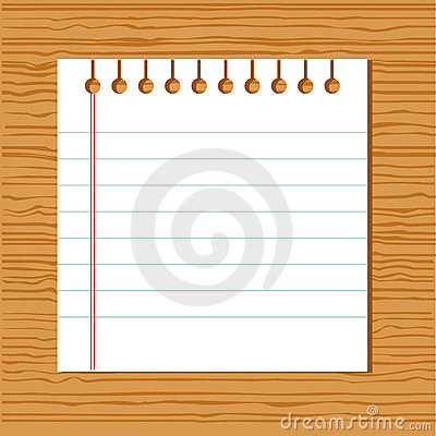Vector notebook paper