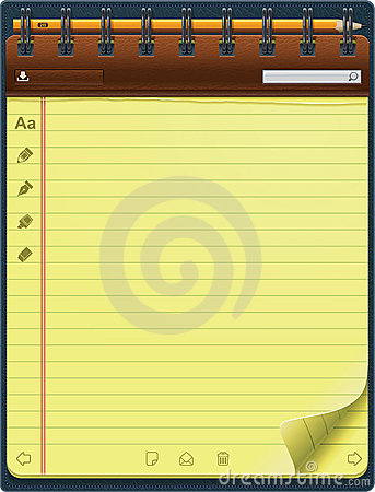 Vector notepad template (vertical)