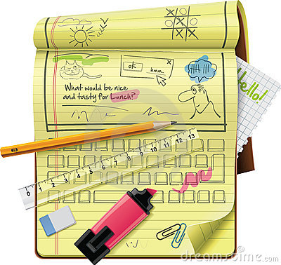 Free Vector Notepad XXL Detailed Icon Royalty Free Stock Images - 18899859