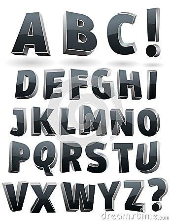 Vector o alfabeto 3D