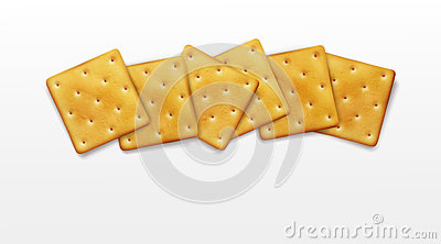 Vector object. for design element. Crackers on white ba Vector Illustration
