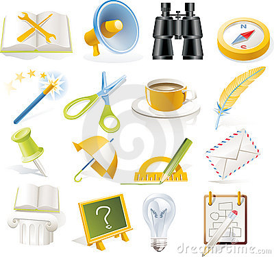 Free Vector Objects Icons Set. Part 5 Royalty Free Stock Image - 8942376