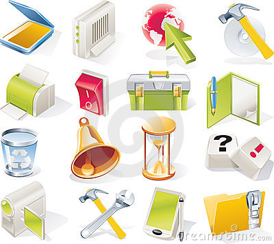 Vector objects icons set. Part 7