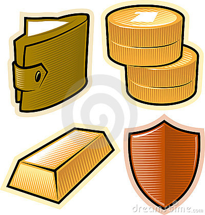 Vector objects for money and security