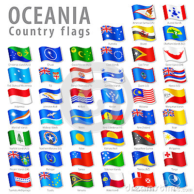 Free Vector Oceanian National Flag Set Stock Image - 38894811