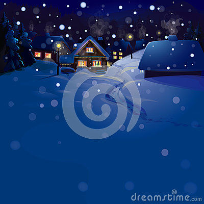 Free Vector Of Winter Landscape. Merry Christmas! Royalty Free Stock Image - 30405646