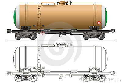 Vector Oil tanker car