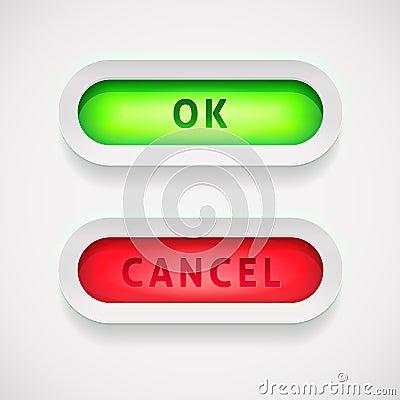 Vector OK and Cancel button