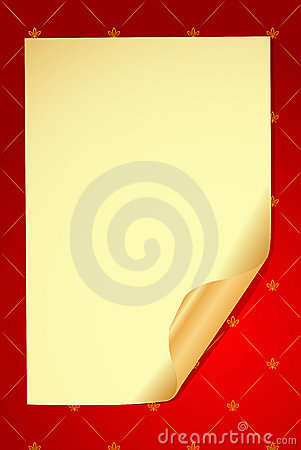 Vector old paper on glamour background