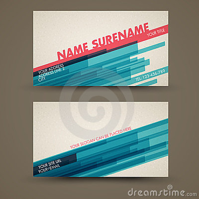 Free Vector Old-style Retro Vintage Business Card Royalty Free Stock Photography - 23477387