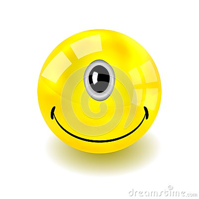 Vector one-eyed yellow face