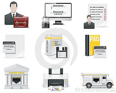 Vector online banking icon set. Part 1