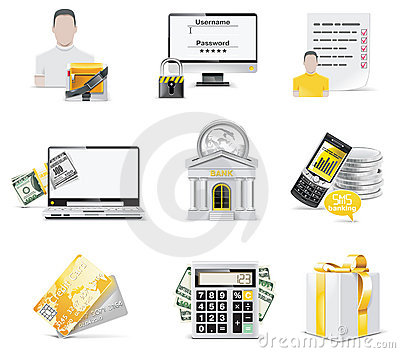 Vector online banking icon set. Part 2