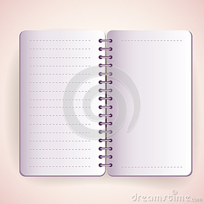 Vector open notepad