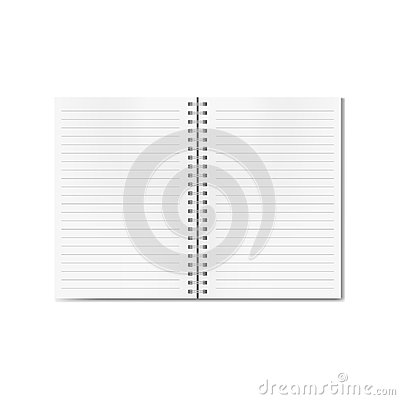 Free Vector Open Realistic Lined Notebook On Spiral Stock Image - 101530501