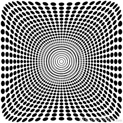 Free Vector Optical Illusion Zoom Black And White Background Royalty Free Stock Photo - 66069725