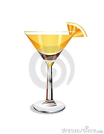 Vector orange cocktail