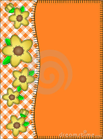 Vector Orange Copy Space With a Side Border of Gin