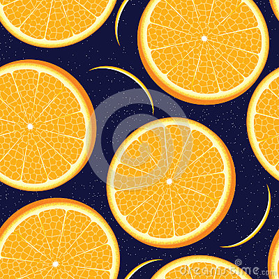Vector orange seamless texture