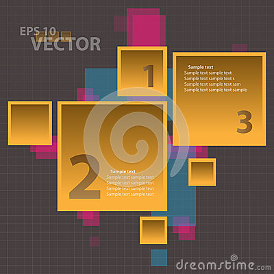 Vector Orange Square Infographics Background Conce