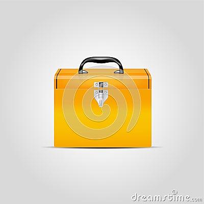 Vector orange toolbox