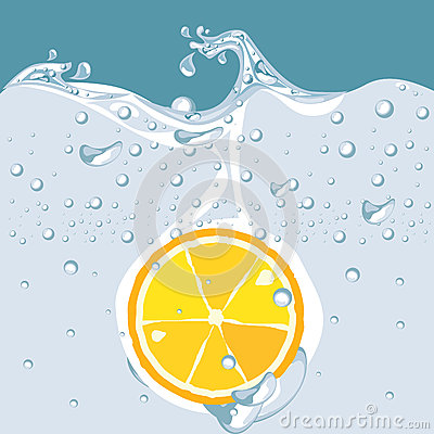 Vector of orange in water