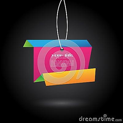 Vector origami banner