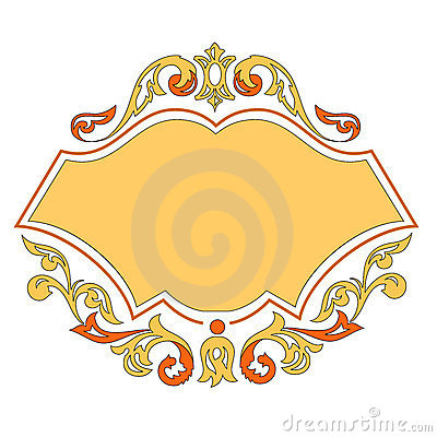 Vector ornament template