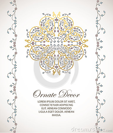 Vector ornamental decorative element. Vector Illustration