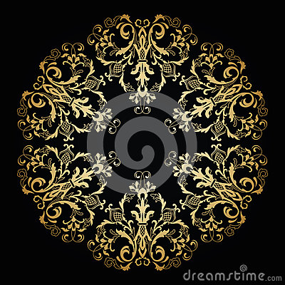 Free Vector Ornamental Floral Ornament. Vintage Style Stock Image - 61913911