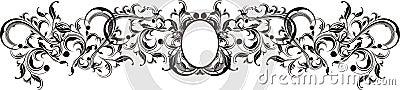 Vector ornaments frame