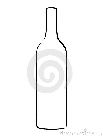 Vector outline bottle