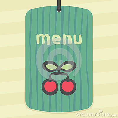 Vector outline cherry fruit icon. Modern infographic logo and pictogram. Vector Illustration