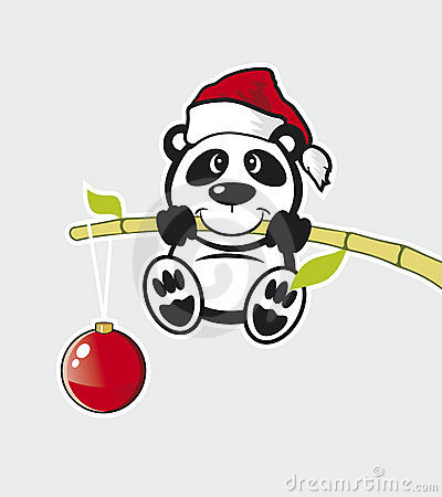 Vector Panda with bamboo