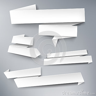 Vector paper banners