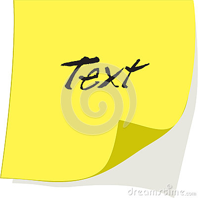 Vector paper note
