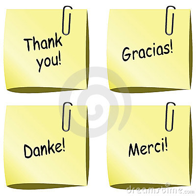 vector paper notes with thank you words