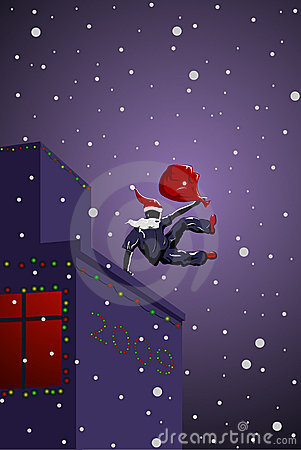 Vector parkour Santa Claus