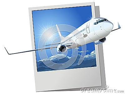 Vector passenger boeing 737
