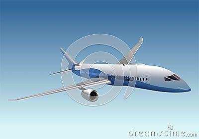 Vector passenger dreamliner