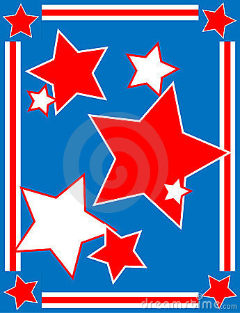 Vector Patriotic Star Background