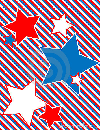 Vector Patriotic Star Background with Stripes