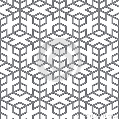 Vector pattern - geometric design from gray lines