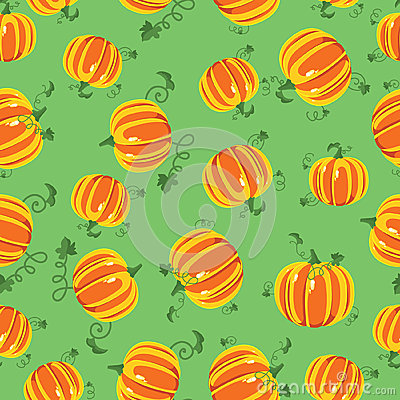 Vector pattern pumpkins seamless