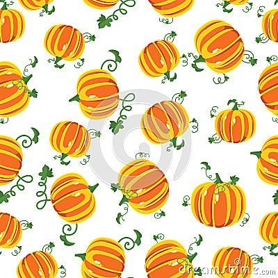 Vector pattern pumpkins seamless