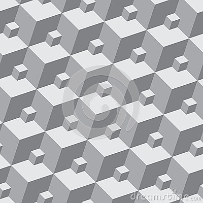 Vector pattern - seamless three-dimensional patter