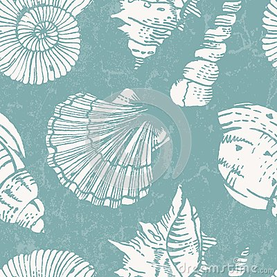 Free Vector Pattern With Sea Shells Stock Images - 31883764
